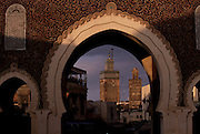 Bab Boujloud (Boujloud Gate) is the main entrance to the walled Fez medina.