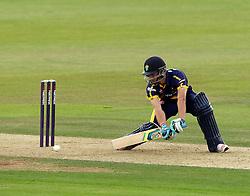 Glamorgan's Craig Meschede guides a shot - Photo mandatory by-line: Robbie Stephenson/JMP - Mobile: 07966 386802 - 03/07/2015 - SPORT - Cricket - Southampton - The Ageas Bowl - Hampshire v Glamorgan - Natwest T20 Blast