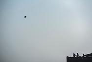 Kite flying, Varanasi, Uttar Pradesh, India
