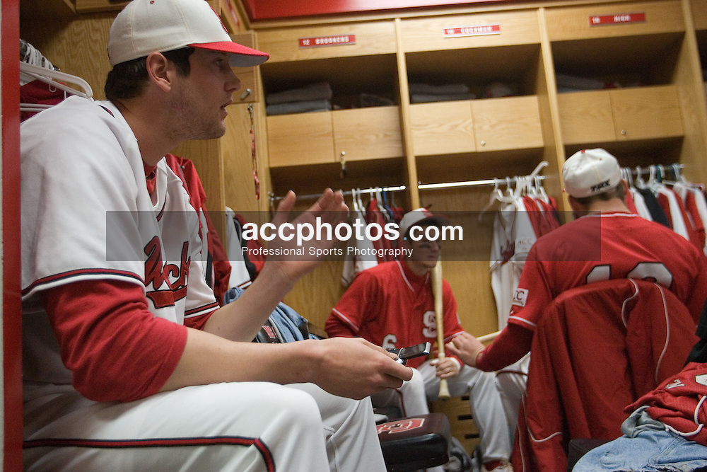 17 February 2007: North Carolina State Wolfpack RHP Andrew Brackman (40) before a 8-0 victory over the Gardner-Webb Bull Dogs in Raleigh, NC.