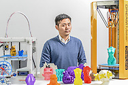 CHINA / Shanghai  /  07/12/2013<br /> <br /> Ricky Ye, 3-D Printer maker of DF Robot in Shanghai<br /> <br /> © Daniele Mattioli Shanghai China Corporate and Industrial Photographer  for Business Punk Magazine