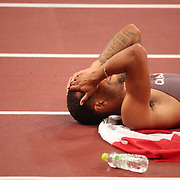 TOKYO, JAPAN August 4:  during the Track and Field competition at the Olympic Stadium  at the Tokyo 2020 Summer Olympic Games on August 4, 2021 in Tokyo, Japan. (Photo by Tim Clayton/Corbis via Getty Images)