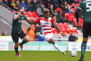 Mallik Wilks of Doncaster Rovers (7) shapes to shoot during the EFL Sky Bet League 1 match between Doncaster Rovers and Plymouth Argyle at the Keepmoat Stadium, Doncaster, England on 13 April 2019.