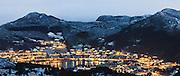 Leinøy is a island located in Herøy, nearby Fosnavåg, Norway | Leinøya i nærheten av Fosnavåg. Tatt fra Storhorent med teleobjektiv.