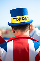 "@Licensed to London News Pictures 21/09/2019. Brighton, UK. The ""Stop Brexit"" man Mr Steve Bray the political activist from Port Talbot in Wales demonstrates outside the Labour Party Conference in Brighton. The conference is due to finish on wednesday the 25th of September. Photo credit: Manu Palomeque/LNP"