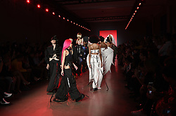 September 12, 2018 - New York, New York, U.S - September, 2018 - New York, New York  U.S. - Models on the runway at the NAMILIA S/S 2019 RTW show finale during New York Fashion Week 2018.  (Credit image (c) Theano Nikitas/ZUMA Wire/ZUMAPRESS.com (Credit Image: © Theano Nikitas/ZUMA Wire)