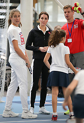 The Duchess of Cambridge visits the Lawn Tennis Association at the The National Tennis Centre in London, UK, on the 31st October 2017. Picture by Daniel Leal-Olivas/WPA-Pool. 31 Oct 2017 Pictured: Johanna Konta, Catherine, Duchess of Cambridge, Kate Middleton. Photo credit: MEGA TheMegaAgency.com +1 888 505 6342