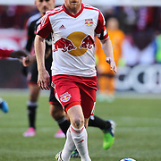 Dax McCarty, New York Red Bulls, in action during the New York Red Bulls Vs D.C. United Major League Soccer regular season match at Red Bull Arena, Harrison, New Jersey. USA. 22nd March 2015. Photo Tim Clayton
