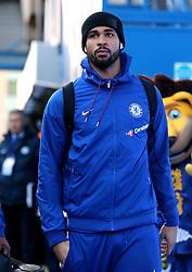 Chelsea's Ruben Loftus-Cheek arrives at Stamford Bridge before the match