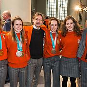 NLD/Den Haag/20180323 - Huldiging Olympische en Paralympische medaillewinnaars, suzanne schulting, yara van kerkhof, jeroen otter, lara van ruijven, rianne de vries en jorien ter mors