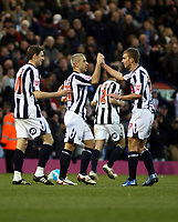 Photo: Mark Stephenson/Sportsbeat Images.<br /> West Bromwich Albion v Scunthorpe United. Coca Cola Championship. 29/12/2007.Kevin Phillips (2ed L) celebrates his 2ed goal with team mates