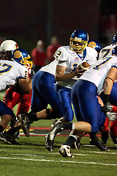 26 September 2009: Ryan Crawford looks for his back as linesman Jonathan fick (67) creates a hole. South Dakota State Jackrabitts jump past the Illinois State Redbirds 38 - 17 at Hancock Stadium on campus of Illinois State University in Normal Illinois