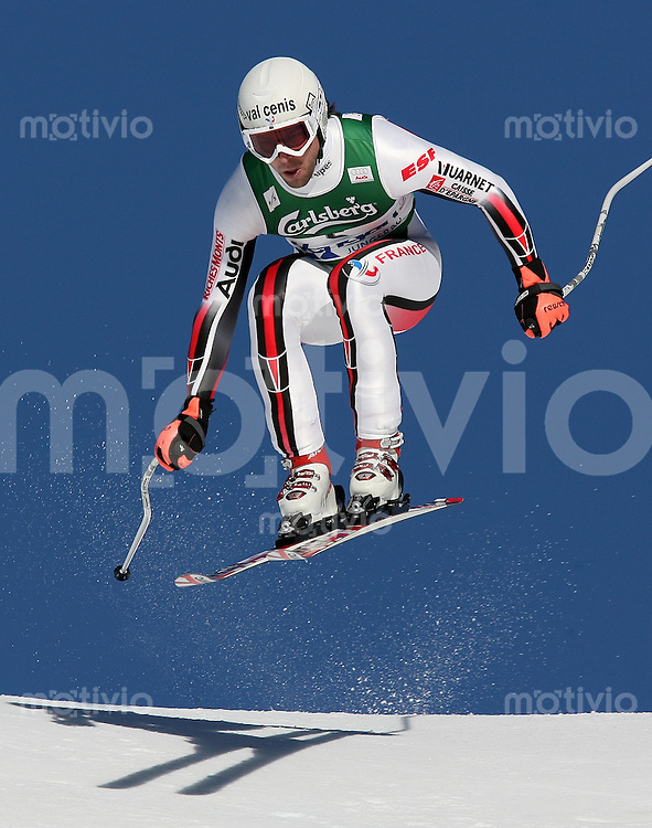 Ski Alpin; Saison 2006/2007  77. Weltcup Abfahrt Herren Pierre - Emmanuel Dalcin (FRA)) am Hundschopfsprung