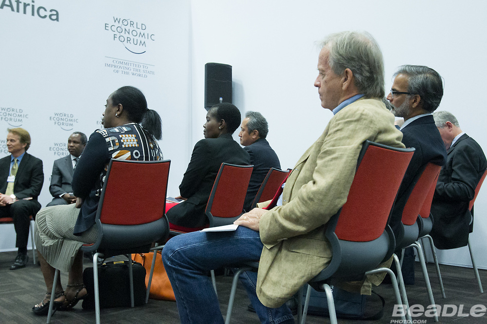 Particpants listen to the panel at the World Economic Forum on Africa 2017 in Durban, South Africa. Copyright by World Economic Forum / Greg Beadle