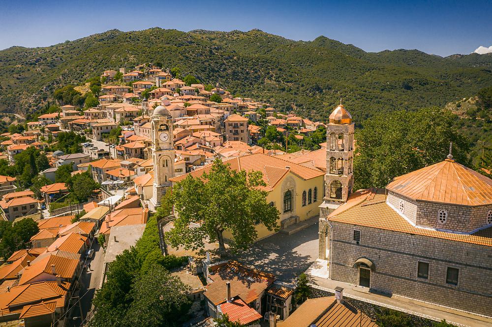Dimitsana mountain village at Gortynia region of Peloponnese, Greece