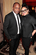 New York, New York- June 6: (L-R) Visual Artist Hank Willis Thomas and Gallerist Joeonna Bellorado-Samuels attend the 2017 Gordon Parks Foundation Awards Dinner celebrating the Arts & Humanitarianism held at Cipriani 42nd Street on June 6, 2017 in New York City.   (Photo by Terrence Jennings/terrencejennings.com)