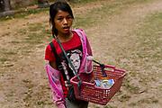 Child vendor, Preah Khan, Angkor temple complex