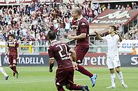 esultanza gol Gaston Maxi Lopez . Autogol Gonzalez Goal celebration <br /> Torino 27-09-2015 Stadio Olimpico Football Calcio Serie A 2015/2016 Torino - Palermo Foto Daniele Buffa / Image Sport / Insidefoto