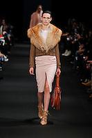Ashleigh Good (FORD) walks the runway wearing Altuzarra Fall 2015 during Mercedes-Benz Fashion Week in New York on February 14, 2015