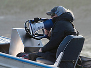 Putney, London,  Tideway Week, OUWBC. Oxford, Chief Coach, Ali WILLIAMS, Championship Course. River Thames, <br /> <br /> Tuesday  28/03/2017<br /> [Mandatory Credit; Credit: Peter Spurrier/Intersport Images.com ]