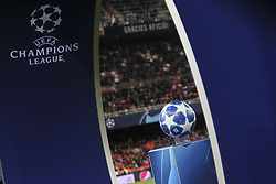 December 12, 2018 - Valencia, Spain - Champions League logo before UEFA Champions League Group H between Valencia CF and Manchester United at Mestalla stadium  on December 12, 2018. (Photo by Jose Miguel Fernandez/NurPhoto) (Credit Image: © Jose Miguel Fernandez/NurPhoto via ZUMA Press)