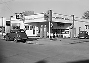 0001-C12 Johnston's Garage and gas station, SW Broadway at Hall, Beaverton, Oregon. 1941
