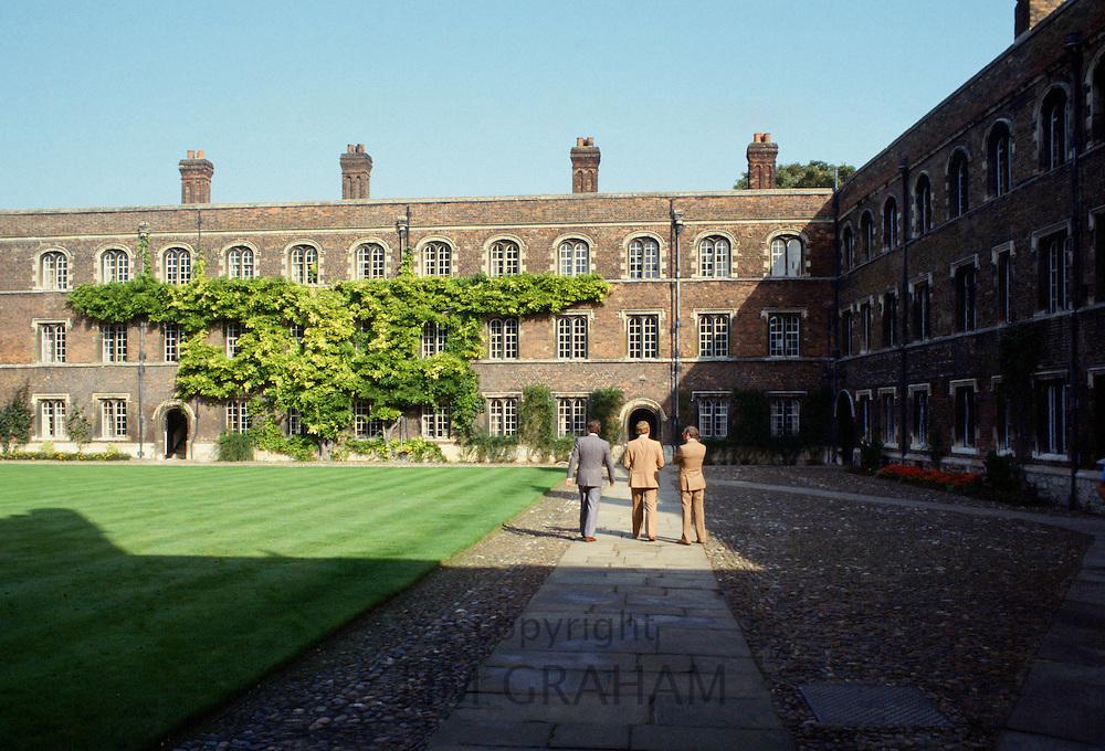 University students at Jesus College, Cambridge University, England, UK