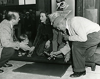 1949 Jeanne Crain's hand/footprint ceremony at the Chinese Theater