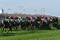 National Hunt Horse Racing - 2019 Randox Health Grand National Festival - Saturday, Day Three (Grand National Day)<br /> <br /> , in the 1.45 Gaskells Handicap Hurdle (Grade 3) (Class 1)<br /> at Aintree Racecourse.<br /> <br /> COLORSPORT/WINSTON BYNORTH