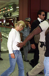 Jul 16, 2001; Rome, Italy; North American Rights ONLY! British pop star GERI HALLIWELL arrives @ Leonardo da Vinci International airport in Rome. .  (Credit Image: Remi Agency/ZUMAPRESS.com)