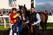 Grisons ridden by William Cox and trained by Clive Cox in the Aston Manor Maiden Stakes (Class 4) race.  - Ryan Hiscott/JMP - 17/08/2019 - PR - Bath Racecourse - Bath, England - Race Meeting at Bath Racecourse