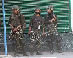 June 9, 2017 - Anantang, Jammu And Kashmir, India - Clashes erupted between security forces and Protesters after Friday prayers at Lal chowk area of Anantnag district some 60kms From summer captail of Indian occupied Kashmir.Despite fasting clashes erupted between security forces and Protesters after Friday prayers at Lal chowk area of Anantnag district some 60kms From summer capital of Indian occupied Kashmir (Credit Image: © Aasif Shafi/Pacific Press via ZUMA Wire)