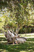 Deck chairs, Estancia La Bamba De Areco, Pampas, Argentina, South America