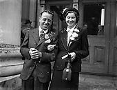 1952 The Wedding of Mr. Richard Hughes and Miss Eileen Harvey