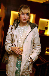 MISS ANOUSKA GERHAUSER daughter of Tamara Beckwith  at a party hosted by Burberry to launch their special collection in aid of Breakthrough Breast Cancer, held at 21-23 New Bond Street, London W1 on 5th October 2004.<br />