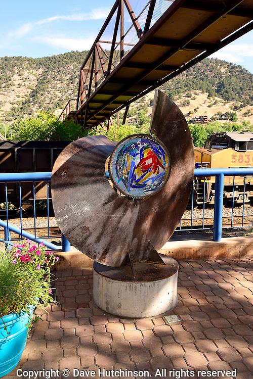 Public art in downtown Glenwood Springs, Colorado, USA