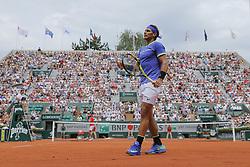 May 29, 2017 - Paris, Ile de France, France - Rafael Nadal (ESP), sous tension (Credit Image: © Panoramic via ZUMA Press)