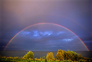 Rainbow on Lake WInnipeg after storm<br />