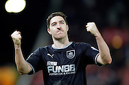 Stephen Ward of Burnley celebrates at the final whistle - Football - Barclays Premier League - Stoke City vs Burnley - Britannia Stadium Stoke - Season 2014/2015 - 22nd November 2015 - Photo Malcolm Couzens /Sportimage