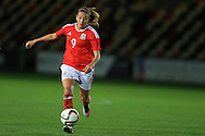Kayleigh Green of Wales in action.Friendly International Womens football, Wales Women v Republic of Ireland Women at Rodney Parade in Newport, South Wales on Friday 19th August 2016.<br /> pic by Andrew Orchard, Andrew Orchard sports photography.