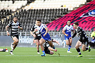 St Helens winger Regan Grace (5)  during the Betfred Super League match between Hull FC and St Helens RFC at Kingston Communications Stadium, Hull, United Kingdom on 16 February 2020.