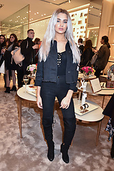 Atlanta Pitman at a party to celebrate the launch of the new Furla Flagship store, 71 Brompton Road, London England. 2 February 2017.