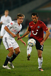 23.10.2011, AWD-Arena, Hannover, GER, 1.FBL, Hannover 96 vs FC Bayern Muenchen, im Bild Sergio Pinto (Hannover #7) klaert vor  Philipp Lahm (Muenchen #21) .// during the match from GER, 1.FBL, Hannover 96 vs FC Bayern Muenchen on 2011/10/23, AWD-Arena, Hannover, Germany. .EXPA Pictures © 2011, PhotoCredit: EXPA/ nph/  Schrader       ****** out of GER / CRO  / BEL ******