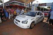 Eli Evans & Chris Murphy.Motorsport-Rally/2008 Coffs Coast Rally.Offical Start, City Centre .Coffs Harbour, NSW.14th of November 2008.(C) Joel Strickland Photographics