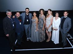 Edinburgh International Film Festival 2019<br /> <br /> H0us3 (International Premiere)<br /> <br /> Stars arrive on the red carpet for the international premiere<br /> <br /> Pictured: Cast and crew at the Odeon<br /> <br /> Alex Todd   Edinburgh Elite media