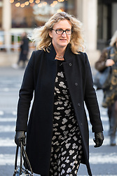 © Licensed to London News Pictures. 18/01/2017. London, UK. Claire Blackman, wife of Sgt Alexander Blackman (also known as Marine A) arrives at the High Court. Today begins an appeal against the life sentence he was given after being convicted of murdering a wounded Taliban fighter in Afghanistan in 2011. Photo credit : Tom Nicholson/LNP