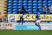 Goal, Mohamed Eisa of Peterborough United scores, Peterborough United 2-0 AFC Wimbledon during the EFL Sky Bet League 1 match between Peterborough United and AFC Wimbledon at London Road, Peterborough, England on 28 September 2019.