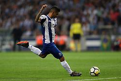 April 23, 2018 - Porto, Porto, Portugal - Porto's Mexican forward Jesus Corona score a goal during the Premier League 2016/17 match between FC Porto and Vitoria FC, at Dragao Stadium in Porto on April 23, 2018. (Credit Image: © Dpi/NurPhoto via ZUMA Press)