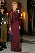 Gala dinner on the occasion of the civil wedding of Grand Duke Guillaume and Princess Stephanie at the Grand-Ducal palace in Luxembourg <br /> <br /> On the photo: Princess Margarita of Romania