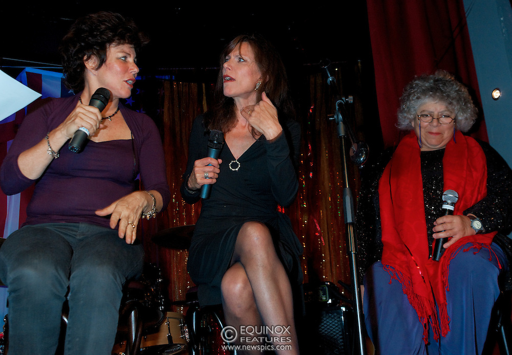 London, United Kingdom - 2 September 2009.Comedienne Ruby Wax and actresses Belinda Lang and Miriam Margolyes performing at gay bar the Royal Vauxhall Tavern, Vauxhall, London, England, UK on 2 September 2009..(photo by: EDWARD HIRST/EQUINOXFEATURES.COM).Picture Data:.Photographer: EDWARD HIRST.Copyright: ©2009 Equinox Licensing Ltd. +448700 780000.Contact: Equinox Features.Date Taken: 20090902.Time Taken: 214332+0000.www.newspics.com